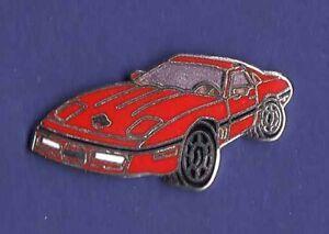 CORVETTE 84 CAR RED HAT PIN LAPEL TIE TAC ENAMEL BADGE #0925