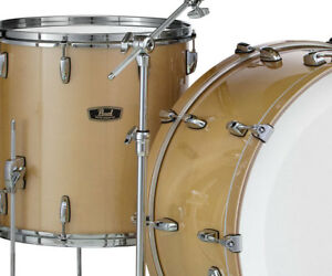 Pearl Wood Fiberglass 14 X 14 Floor Tom Finish 151 Platinum