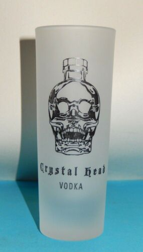 NEW /& RARE SET OF 4 CRYSTAL HEAD VODKA FROSTED SHOT GLASSES ~ DAN AYKROYD PROMO