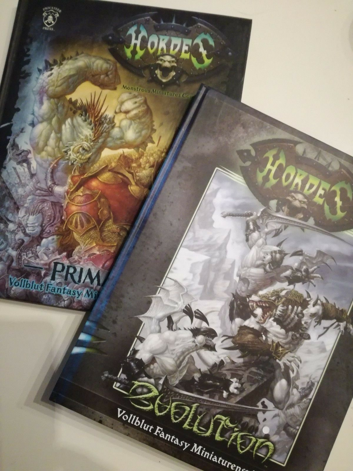 Privateer Press - Hordes - Primal & Evolution - Regelbücher
