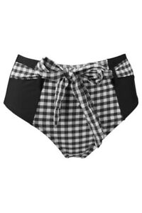 pour-moi-checkers-control-swm-brief-BNWT-size-10-black-white-rrp-22-buy-for-12