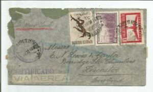 Argentina  1941  Buenos Aires  New York Foreign Berridge Street Leicester  Cover