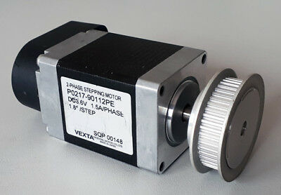 2-Phasen Schrittmotor VEXTA P0217-90112PE mit Encoder US-Digital E5, neuwertig!