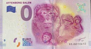 BILLET-0-EURO-AFFENBERG-SALEM-2-ALLEMAGNE-2017-N-PALINDROME-10610