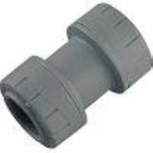 POLYPLUMB POLYPIPE STRAIGHT COUPLER COUPLING PUSH FIT 22mm CONNECTOR