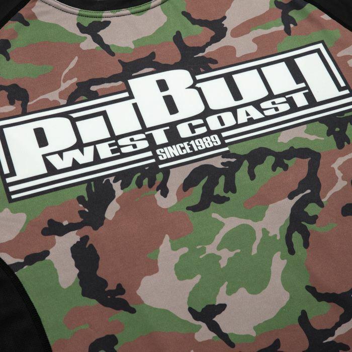 Pit Bull West Coast Rashguard L-S L-S L-S Mesh Performance Pro Plus Woodland Boxing 9f12ed