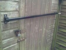 """Security door stop bar hinged for shed / door 800mm(31.5"""") wide house, garage"""