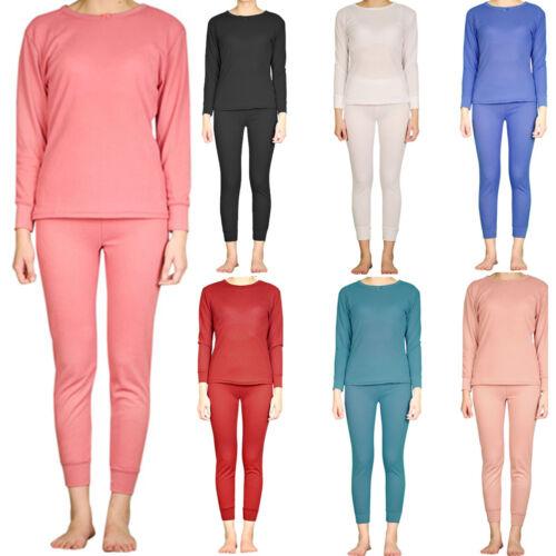 Women/'s 100/% Cotten Thermal Sets Waffle Long Johns Underwear Loungewear Top /&