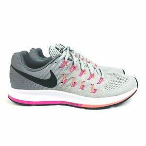 Nike Air Zoom Pegasus 33 Mujer Running Shoe Platino Rosa ...