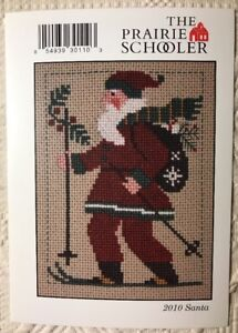 Prairie-Schooler-Cross-Stitch-Pattern-Card-Chart-2010-Santa-Skiing-Holiday-New