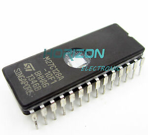 M27C128A-10F1-IC-Eprom-Uv-128-kbit-100NS-28-CDIP-nuevo-y-buena