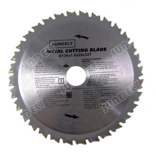 2 x 136mm Professional Silver PMC Metal TCT Cutting Circular Saw Blades