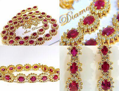 ██ $307600 GIA 67.20CT NO HEAT RUBY DIAMOND NECKLACE BRACELET EARRINGS UNHEATED█