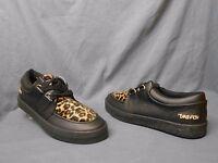 Draven Special Skateboarding Sneakers Vintage Black Leopard Mens Size 9