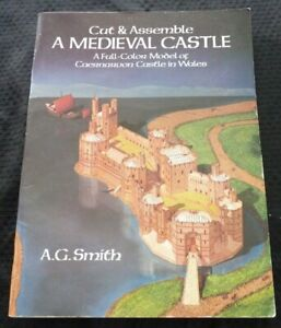 Cut-amp-Assemble-Medieval-Castle-Full-color-Model-of-Caernarvon-Castle-in-Wales