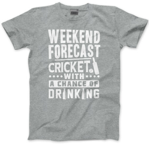 Cricket With a Chance Of Drinking Mens Unisex T-Shirt Weekend Forecast