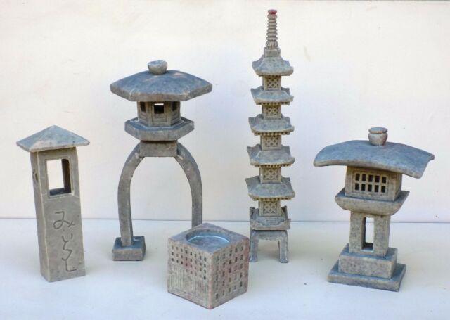 Paa Oriental Concrete Lantern, Oriental Stone Garden Lanterns