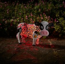 Solar Powered Daisy the Cow Metal Garden Animal Colour Changing Lights Decor