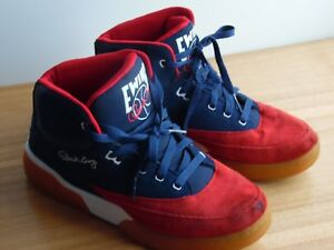 Patrick-Ewing-33-High-Top-Red-White-blue-Very-clean-size-11-5