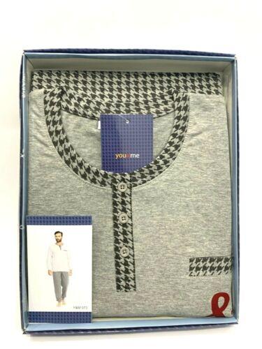 Pigiama Uomo 100/% cotone You/&Me Manica Lunga Pantalone Lungo Art.Y/&M 073