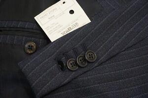 Ermenegildo Zegna CURRENT Blue Striped Roma Wool 2 Pc Suit Jacket Pants Sz 48L