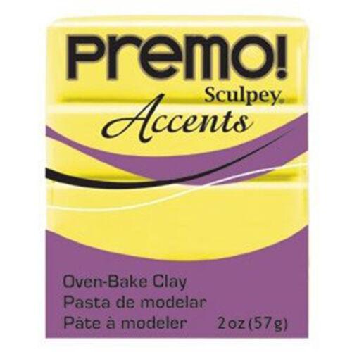 1 panetto sculpey premo accents 57 gr 5046 translucent yellow