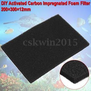 3pcs-50x50cm-Fish-Tank-Activated-Carbon-Filtration-Foam-Filter-Sheet-Sponge-Pad