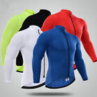 2016 Thermal Fleece Long sleeve Bike Bicycle men's cycling jersey Winter E-52
