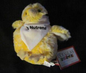 Douglas-4-5-034-Yellow-Baby-Chick-Plush-Stuffed-Animal-NUTRENA-Bandana-RARE-NEW