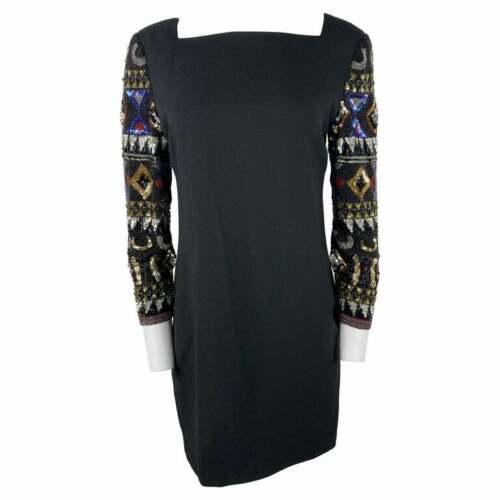 I. Magnin Black Mini Evening Dress - image 1