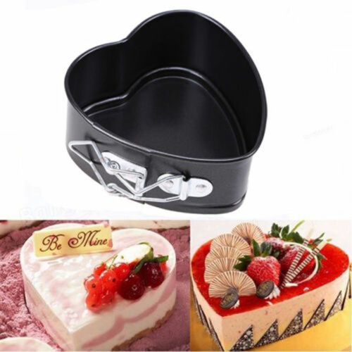 Non-Stick Love Heart Shape Cake Pan Tin  Mold MOULD Baking Cheese Bread Tray $B