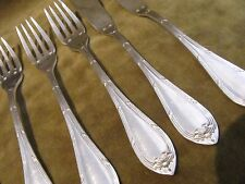 4 fourchettes, 2 couteaux à poisson metal argente LXVI Cailar Bayard