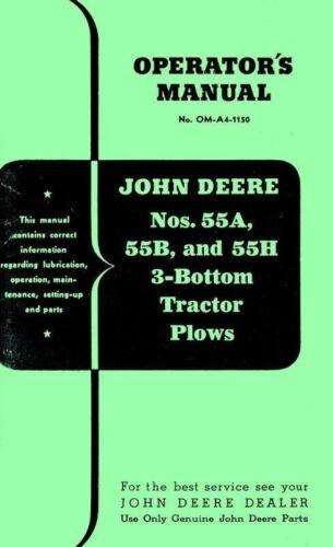 Business & Industrial John Deere 55A 55B and 55H 55-A 55-B 55-H 3 ...