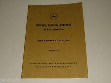 Betriebsanleitung Mercedes Benz W136 Typ 170 170D 170 Da Stand 06/1950