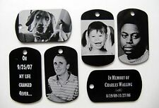 Photo Dog Tag Necklace/Keychain/Pendant - Free Custom Engraving your Photograph