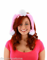 Pink Poodle Ears & Tail Set Animal Kit Adult Halloween Costume Accessory