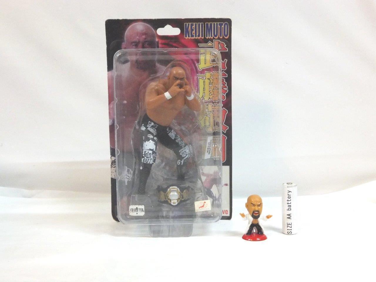 KEIJI MUTO Figure SET MINI BIG HEAD NJPW WCW AJPW MUTA pro wrestling master