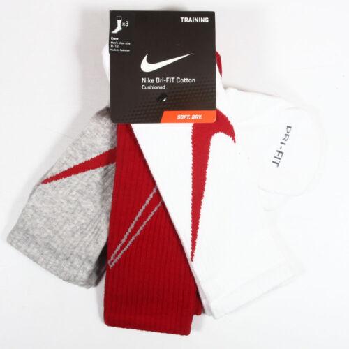 Nike Men 3 Pack Dri Fit Crew Sock Size Men 6-8,8-12,12-15 Youth 3Y-5Y WOMEN 4-6