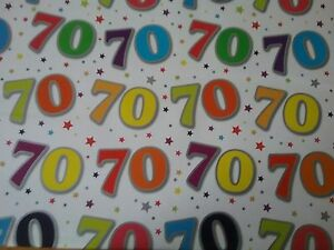Image Is Loading 70TH BIRTHDAY GIFT Wrapping Paper And Tag Good