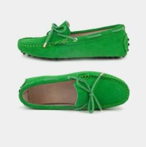 a45179940 Women s Leather Oxford Loafer Casual Slip on Driving Suede Moccasins ...