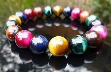 Tiger Eye Quartz Crystal Bracelet Rainbow Mixed