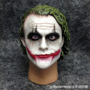 Details About 1 6 Scale Joker 2 0 Heath Ledger Head Sculpt The Dark Knight Dx11 Movable Eyes