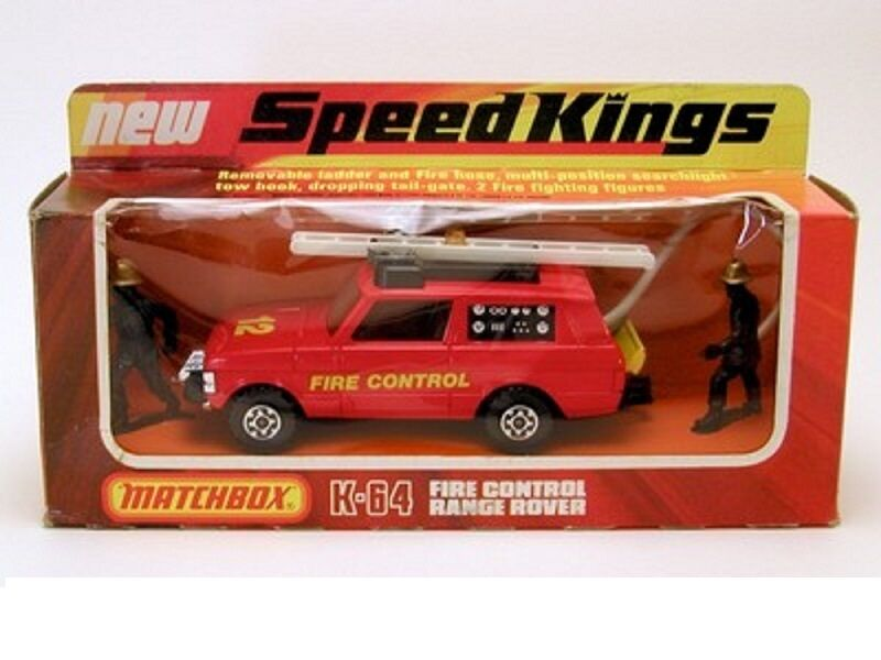 MATCHBOX SPEED KINGS MODEL No.K-64   RANGE ROVER  FIRE CONTROL