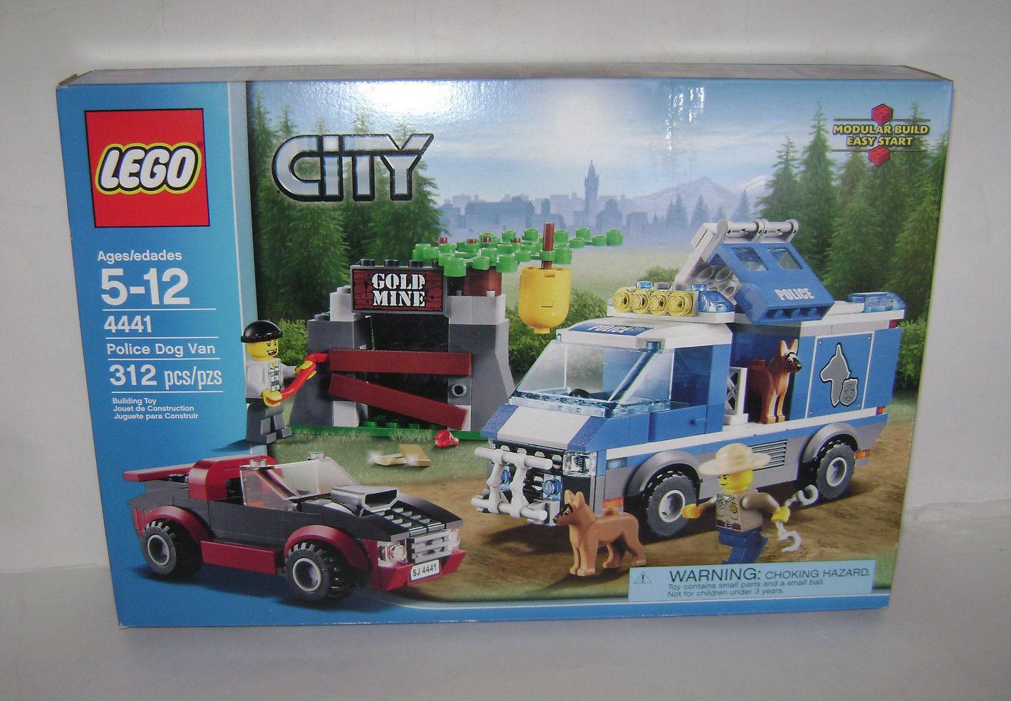 Nuevo 4441 Lego City Policía perro de juguete de construcción de van Mina De oro Caja Sellada un jubilado