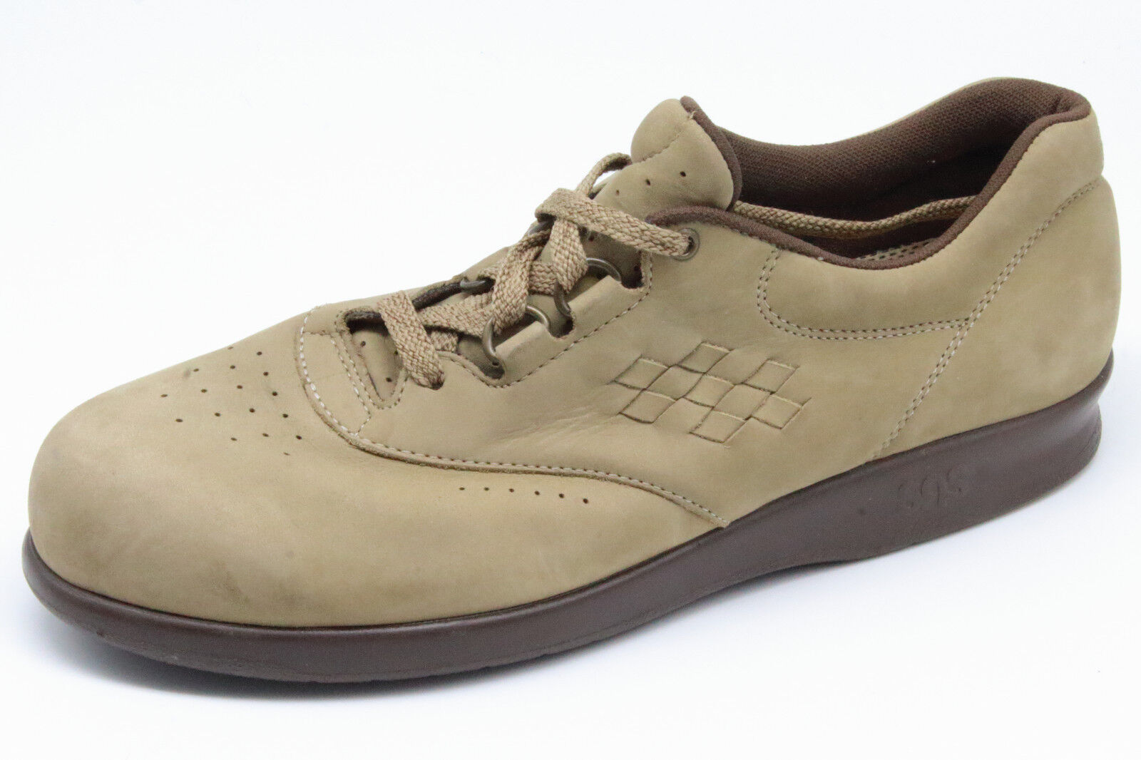 SAS Free Time Tripad Comfort Tan Suede Lace Up shoes Women's 8 1 2 S - Narrow