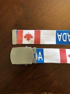 Canada Canadian Red Maple Leaf North America Flag Belt Buckles