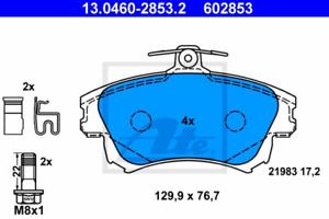 Frein à Disque pour dispositif de freinage Essieu avant UAT 13.0460-2853.2 Bremsbelagsatz