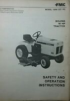 Bolens Qt-16 Garden Tractor & Bf Onan Engine Owner, Service & Parts Manual 80pg