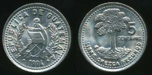 Uncirculated Dedicated Guatemala 1994 5 Centavos Republic