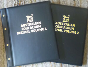 VST-AUSTRALIAN-2-Volume-DECIMAL-COIN-ALBUMS-1966-to-2018-with-DETAILED-MINTAGES